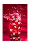 Red Dice Splash Fotografisk trykk av Steve Gadomski