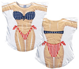 Stars & Stripes Bikini Cover-Up T-Shirt