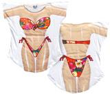 Tropical Flowers Bikini Cover-Up Camiseta