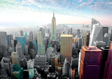 New York Cityscape Colors Poster
