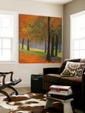 Autumn Trees Print by Lynn Krause
