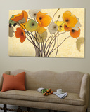 Pumpkin poppies I Poster by Shirley Novak