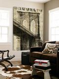 Vintage NY Brooklyn Bridge Posters av Michael Mullan