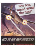 Let's Be Our Own Inspectors Posters av J. Howard Miller