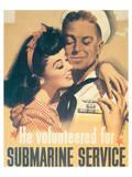 He Volunteered For Submarine Service ポスター : ジョン・ホイットコム