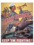 Battle Stations! Keep'em Fighting ポスター