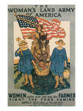 The Woman's Land Army Of America Print by Herbert Andrew Paus