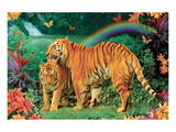 Tiger Love 2 Posters by Alixandra Mullins