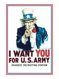 Uncle Sam: I Want You For U.S. Army - Modern Poster