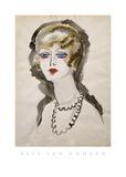Woman with Pearls Plakat av Kees van Dongen