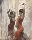 Flamenco II Giclée-Druck von Michael Alford