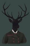 Deer Man Stampa giclée di Clara Wells
