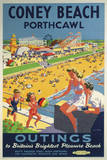 Coney Beach Porthcawl Giclee Print by  The Vintage Collection