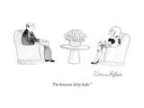 """I'm between dirty looks."" - New Yorker Cartoon Premium Giclee-trykk av Victoria Roberts"