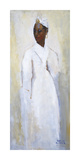 White Dress Black Girl Premium Giclee Print by Boscoe Holder