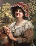 Frühling auf dem Land Giclée-Druck von Emile Vernon