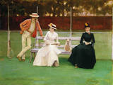 The Tennis Match Giclee-trykk av Sir John Lavery