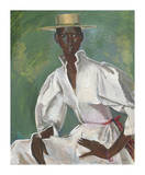 Wearing Boater Premium Giclee Print by Boscoe Holder