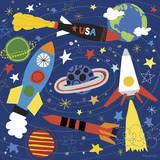 Space Explorer II Impressão giclée por Lesley Grainger
