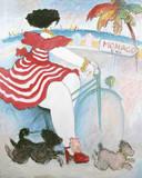 Mónaco Lámina giclée por Michel Boulet