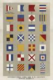 Nautical Flags Giclee Print by Ken Hurd