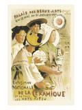 Exposition Nationale De La Ceramique - Palais Des Beaux-Arts, Champ-de-Mars, Paris Poster by Etienne Moreau-Nelaton