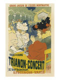 Trianon, Concert Grand Jardin De L'Elysee, Montmartre Posters by Henri Georges Jean Isidore Meunier