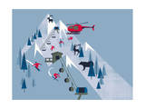 Ski Slopes Giclee Print