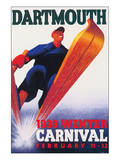 Dartmouthm, Winter Carnival, c.1938 Poster