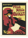 Illustrated Pall Mall Budget, New Series, c.1894 Poster by Maurice Greiffenhagen