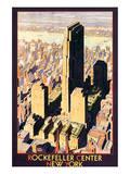Rockefeller Center, New York Plakater af Leslie Ragan
