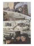 Winter during War Poster af Hans Baluschek
