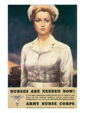 Nurses Are Needed Now! 1945 Stampe