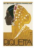 Riquetta Schkolade Poster av Ludwig Hohlwein