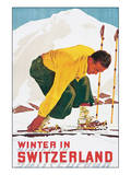 Winter in Switzerland Posters by E. Hermes