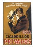 Cigarillos Privados Prints by Achille Luciano Mauzan