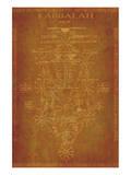 Parchment Kabbalah Print