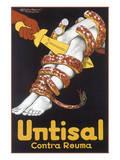 Untisal Contra Reuma Poster von Achille Luciano Mauzan