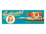 Goldmadel Vollmilch Schokolade Prints