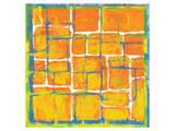 Blue Over Orange Poster von Carmine Thorner