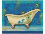 Peacock Bath IV Art by Alan Hopfensperger