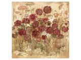 Floral Frenzy Burgundy I Prints by Alan Hopfensperger