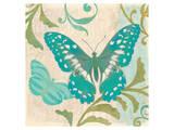 Teal Butterfly II Posters by Alan Hopfensperger