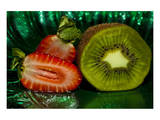 Strawberry Kiwi Mist Prints by Connie Publicover