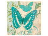 Teal Butterfly I Poster by Alan Hopfensperger