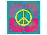 Peace Sign Quilt III Art by Alan Hopfensperger