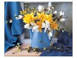 Magnolias and Narcissus Print