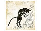Standing Burlap Cat Poster by Alan Hopfensperger
