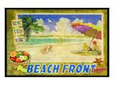 Strandpromenade Kunstdrucke von Chris Vest