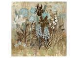 Floral Frenzy Blue I Print by Alan Hopfensperger